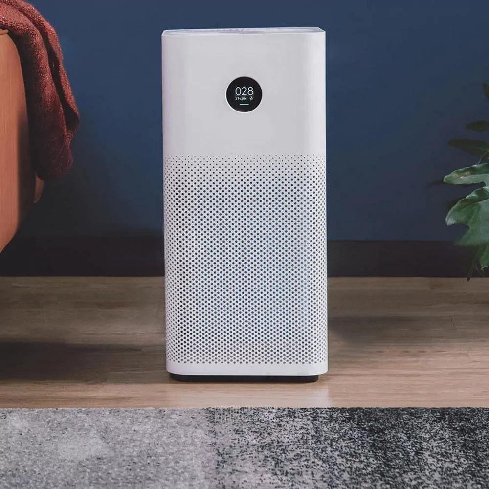 บัตรเครดิตซิตี้แบงก์ รีวอร์ด  กำแพงเพชร Original Xiaomi OLED จอแสดงผลเครื่องฟอกอากาศสมาร์ท 2 วินาทีฝุ่นละอองควันกลิ่นแปลก CLEANER สีขาว EU Plug - INTL