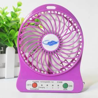 Portable coolerพัดลมมินิPortable Fan F95B-ฟ้า