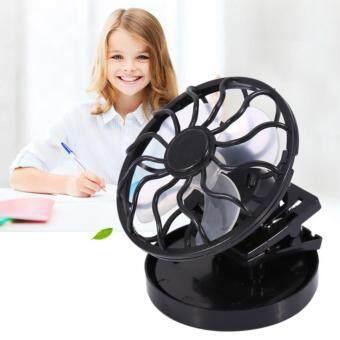 พัดลมพลังงานแสงอาทิตย์ (สีดำ)