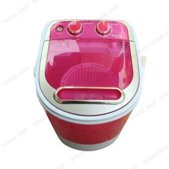 Sonar เครื่องซักผ้ามินิฝาบน ปั่นแห้งในตัว 2in1 รุ่น EW-A160 - สีชมพู (แถมเตารีดผ้าสีชมพู รุ่น SI-N34) (image 1)