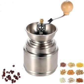Harga Stainless Steel Manual Coffee Bean Grinder Mill with AdjustableCeramic Burr Pepper Mill Kitchen Tool