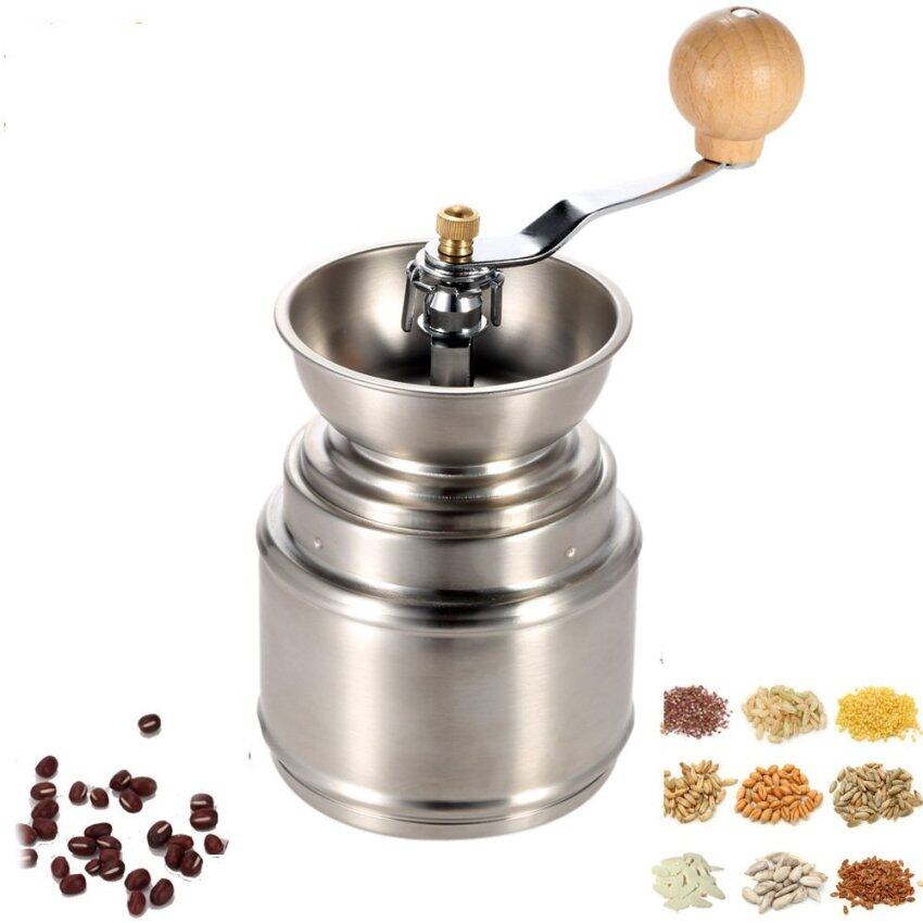 Stainless Steel Manual Coffee Bean Grinder Mill with Adjustable Ceramic Burr Pepper Mill Kitchen Tool