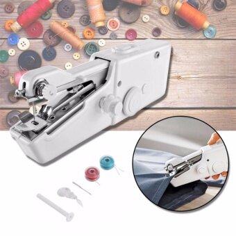 เปรียบเทียบราคา TML จักรเย็บผ้าไฟฟ้ามือถือ ขนาดพกพา Handheld Sewing Machine - White