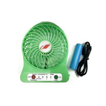 Twosister Portable Lithium Battery FAN พัดลมจิ๋วพลังเทอร์โบ (Green)