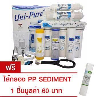 Unipure Blue เครื่องกรอง 5 ขั้นตอน ฟรีไส้กรอง PP SEDIMENT 1ชิ้นมูลค่า 60 บาท