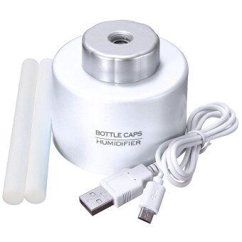 ขายด่วน USB Portable Mini Water Bottle Caps Humidifier Air Diffuser AromaMist Maker (White)
