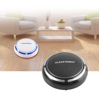 USB Recharging Automatic Robotic Floor Cleaner Household DustSweeping Smart Machine- Black - intl