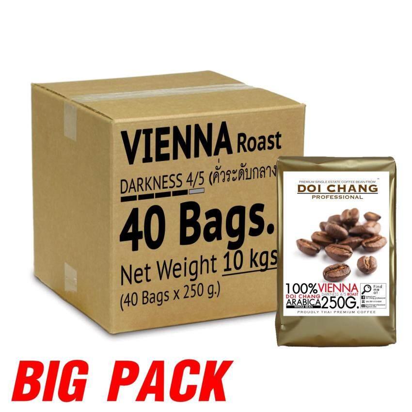กาแฟ คั่วกลาง Vienna 10 kgs. (40×250g) แบบเมล็ด