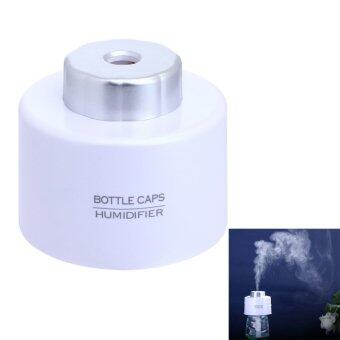 White USB Mini Water Bottle Cap Humidifier Air Diffuser Aroma MistMaker