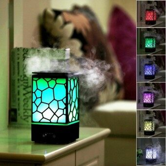 Womdee Aroma Diffuser Humidifier Chinese Water Cube 200ml Aromatherapy Aroma Diffuser Cool Mist Humidifiers With Auto-Shut-Off 7 Color LED Light For Home Yoga Office Spa Bedroom Baby Room - intl