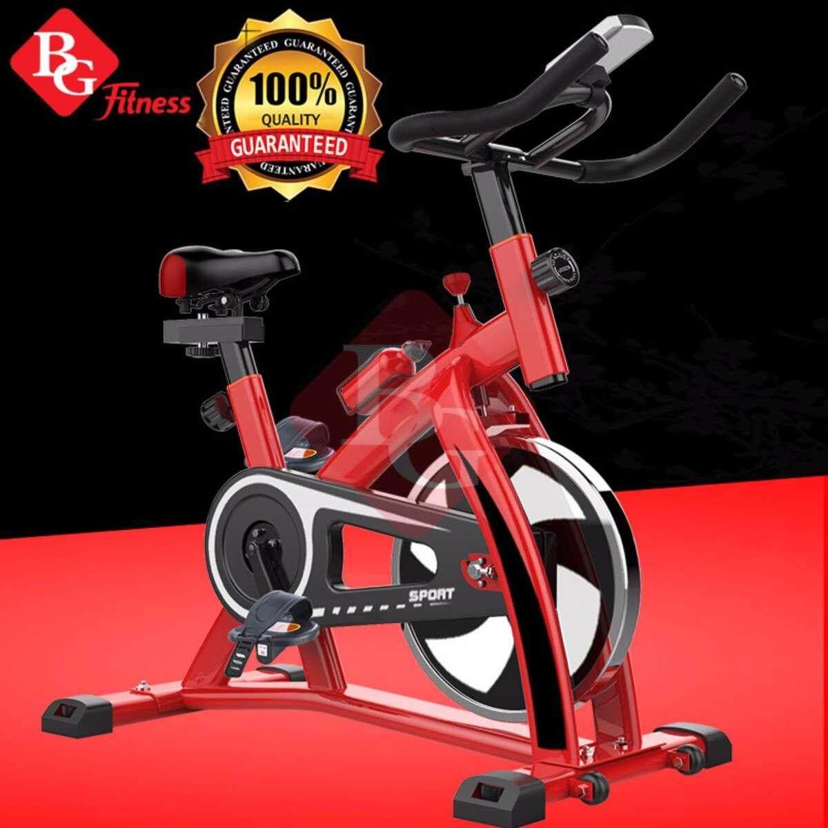 ซ่อม B&G Exercise Bike จักรยานออกกำลังกาย Spin Bike พร้อมหน้าจอ LED แสดงผลการทำงาน รุ่น S300 (Red)