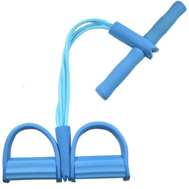 ยางยืดออกกำลังกาย อุปกรณ์ออกกำลังกายในบ้าน ด้ามจับเป็นโฟมไม่เจ็บมือ
