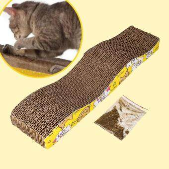 Harga Cat Corrugated Cardboard Scratch Board Pad Scratcher Bed Mat ClawsCare Toy