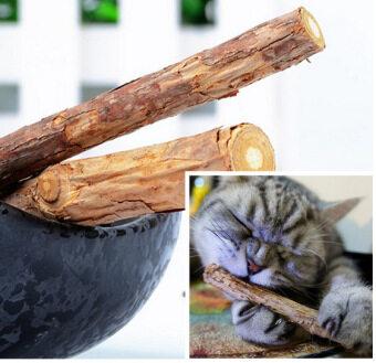 ไม้ทำความสะอาดฟันแมว ไม้ Catnip 2 ชิ้น