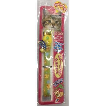CattyMan ปลอกคอแมว ขนาด 18-27 ซม. สีเขียวเหลือง
