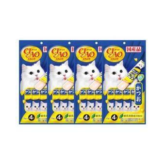 อยากขาย CIAO CHURU Tuna Katsuo in Jelly 4 Pack (4x12g) ขนมแมว รสปลาคัตสึโอะ(4 ซอง/แพ็ค) จำนวน 4 แพ็ค