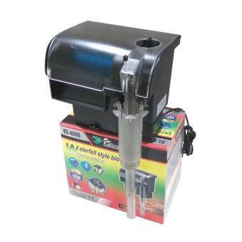 E.F.W. เครื่องกรองน้ำและปั้มลม ภายนอก RS-4000 RSelecteical สำหรับตู้ปลาขนาดใหญ่ ทำความสะอาดตู้ เพิ่มออกซิเจน น้ำตก Cyclone External Filter Water Filter Pump Cleaning Oxygen Waterfall (Black)