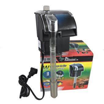 E.F.W. เครื่องกรองน้ำและปั้มลม ภายนอก RSelecteicalสำหรับตู้ปลาขนาดเล็ก ทำความสะอาดตู้ เพิ่มออกซิเจน น้ำตก CycloneExternal Filter Water Filter Pump Cleaning Oxygen Waterfall RS-1000(Black)