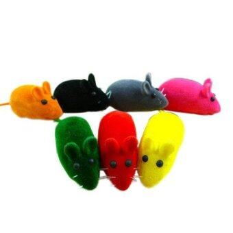 Harga False Little Mouse Squeak Sound Funny Rat Toy For Cat Kitten PetTeaser Play - intl