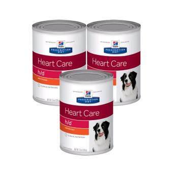 Hill's Prescription Diet h/d Canine Cardiac Health Canned อาหารสุนัขประกอบการรักษาโรคหัวใจ ชนิดเปียก ขนาด370กรัม x 3กระป๋อง