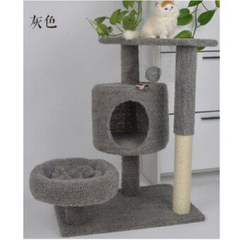 Harga Inter Shop Lovecats Model CA011-GRAY คอนโดแมว/บ้านแมว/Cat Tree/Cat condo/Cat climbing