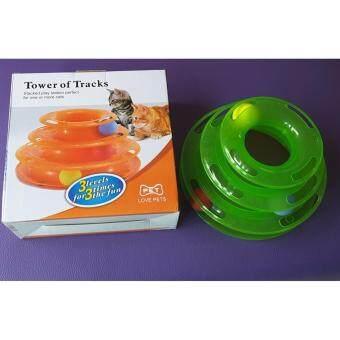 Tower of Tracks brand Pet (orange) รางบอล 3 ชั้น สินค้ายอดฮิต สีเขียว
