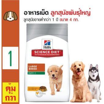 Science Diet อาหารเม็ดสุนัข อาหารสุนัขพันธุ์ใหญ่ ลูกสุนัขทุกสายใหญ่ อายุต่ำกว่า 1 ปี ขนาด 4 กก.
