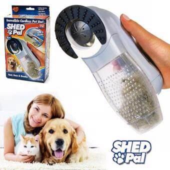 Pet Shed Pal อุปกรณ์แปรงและดูดเศษขนสัตว์ อุปกรณ์ดูแลสัตว์ อุปกรณ์หวีขนหมาและแมว
