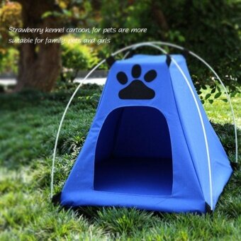 Harga Outdoor Waterproof Oxford Pets tent House Dog Cat Playing Bed Folding Mat - intl