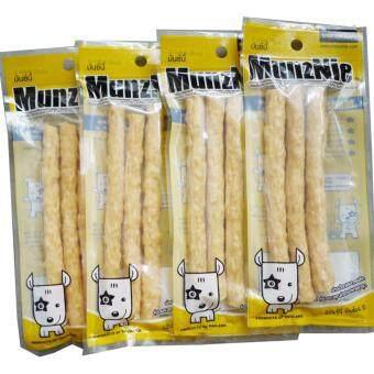 Pet 2 Go MUNZNIE (MS033) ขนมสุนัข ครันชี่โรลนิ่ม รสไก่ ขนาดบรรจุ 3 ชิ้น (4 Unit)