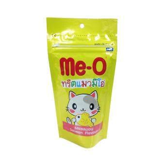 Me-O Salmon Flavour มีโอ ขนมแมว รสปลาแซลมอน ขนาด 50กรัม จำนวน 12ถุง
