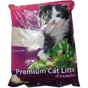 sumo cat Premium Cat Litter Jasmine ทรายแมว กลิ่นมะลิ 10 ลิตร