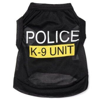 Harga Police K-9 Unit Puppy Dog Pet Summer T-Shirts Vest Clothes Apparel Costumes M - intl