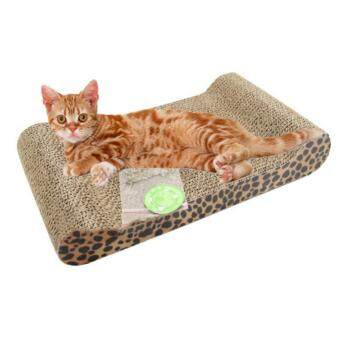 Harga Promotions Cat Kitten Corrugated Scratch Board Pad Scratcher Bed Mat Claws Care Interactive Toy For pet Cat Training Cat Toy - intl