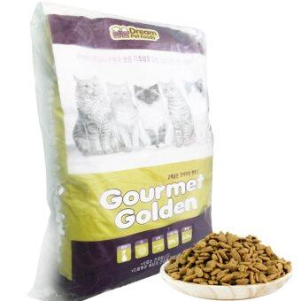 GOURMET GOLDEN กรูเม่ โกลด์เดิ้น อาหารแมวเม็ดสูตรเกาหลี 8.0kg (2.0kg x 4ถุง) สูตรควบคุมก้อนขน