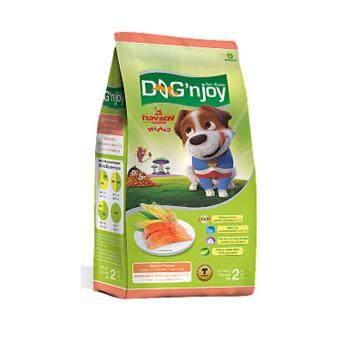 Dog 'n Joy - ด็อกเอ็นจอย อาหารสุนัขโตทุกสายพันธุ์ สูตรปลาแซลมอน ขนาด 2 กก.
