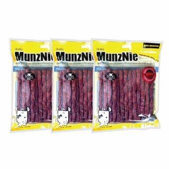 MUNZNIE ขนมขบเคี้ยวสำหรับสุนัข มันชี่เกลียว รสตับ บรรจุ 25 ชิ้น (x3 packs)