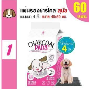 Charcoal Pads แผ่นรองซับสัตว์เลี้ยง แผ่นรองฉี่สุนัข 40x50cm (60 แผ่น)