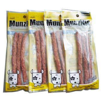 Pet 2 Go MUNZNIE (MS034) ขนมสุนัข ครันชี่โรลนิ่ม รสตับ ขนาดบรรจุ 3 ชิ้น (4 Unit)