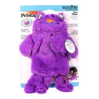 Petstages Purr Pillow ของเล่นแมว ตุ๊กตาผ้าขนนิ่มหมอนแมว แบบมีเสียงกรน ช่วยให้แมวผ่อนคลาย