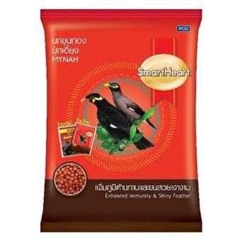 Smartheart อาหารนก นกขุนทอง นกเอี้ยง สูตร เพิ่มภูมิต้านทาน และ ขนสวยเงางาม ถุง 400 กรัม 1 ถุง Mynah Food Enhanced Immunity&Shinny Feather 400g 1 bag