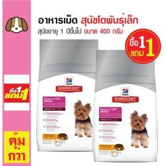 Science Diet อาหารเม็ดสุนัข อาหารสุนัข สุนัขโตพันธุ์เล็ก อายุ 1 ปีขึ้นไป ขนาด 400 กรัม (ซื้อ 1 แถม 1)