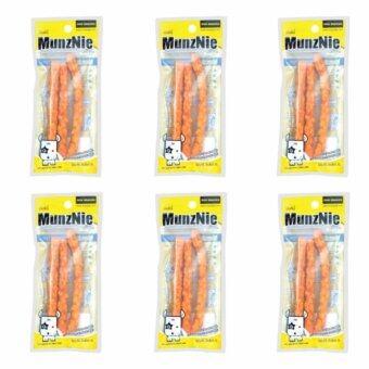 MUNZNIE ขนมขบเคี้ยวสำหรับสุนัข ครันชี่นิ่ม รสชีส บรรจุ 3 ชิ้น (x6 packs)
