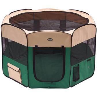 Smartshopping กรงสุนัขพับได้ สีเขียว (size XL ขนาด 64x140 cm.)