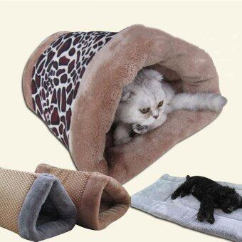 Harga New Small Cat Dog House Bed Dual Purpose Nest Mat Cat Dog Bed House Cute Kennel Nest Fleece Tent Pet Dog Cat Bed Mats For Sofa_SQUARE - intl