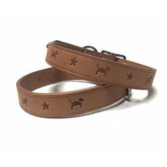 Dog Friend - ปลอกคอหนังแท้ size 40 cm