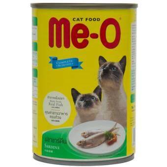 Me-O Sardine อาหารแมวชนิดเปียกสำหรับแมวทุกสายพันธุ์ สูตรปลาซาร์ดีน 400กรัม 3 กระป๋อง