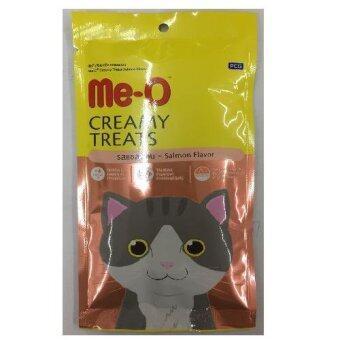 Me-o Creamyขนมแมวเลีย รสแซลมอน รุ่น4ซอง ซองละ15g