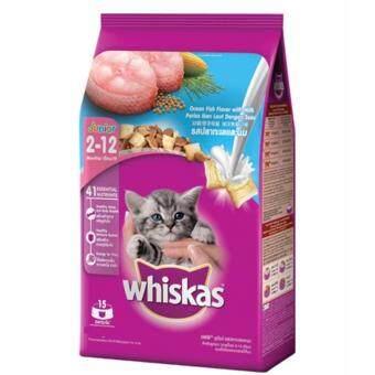 Whiskas Kitten Ocean Fish Flavor with Milk 450g.-วิสกัส อาหารสูตรลูกแมว อายุ 2-12 เดือน ขนาด 450 กรัม