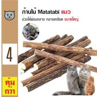 Catwant Matatabi Catnip ก้านไม้มาทาทาบิ ตำแยแมว กัญชาแมว ขนมแมว ของเล่นแมว ขนาดใหญ่ (2ชิ้น/ซอง) x 2 ซอง